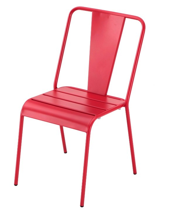 Silla Any tolix metal rojo