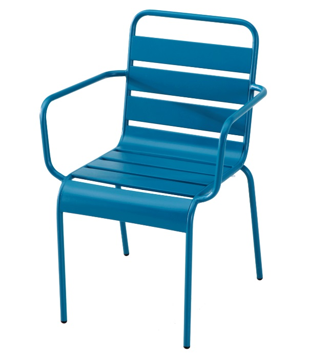 Sillon Deco metal azul vintage