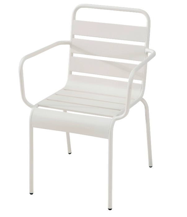 Sillon Deco metal blanco vintage
