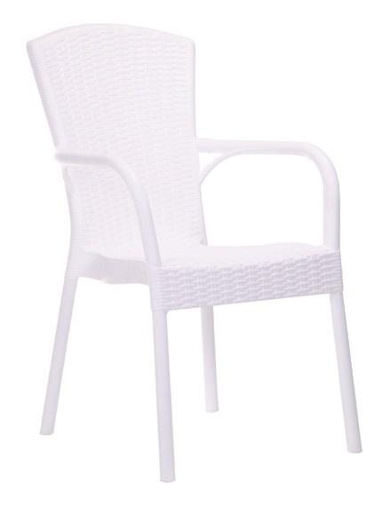 Silla clasica Royal polipropileno fibra de vidrio blanco
