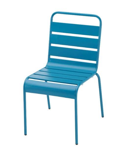 Silla Deco metal azul vintage
