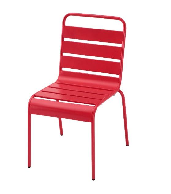 Silla Deco metal rojo vintage