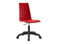 Silla oficina rojo Mannequin ruedas