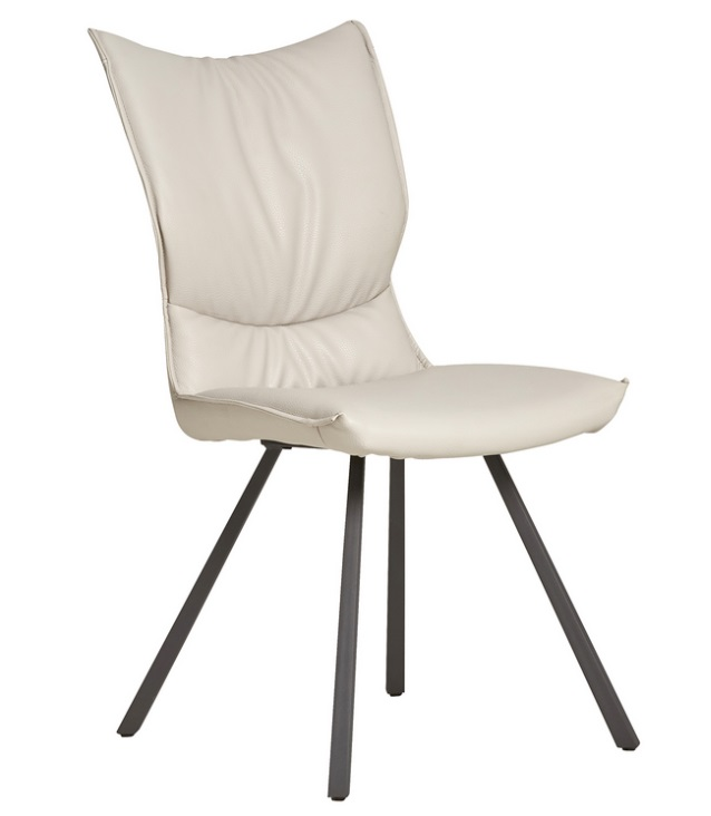 Mica silla acolchada similpiel crema