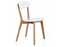 Silla Nordica blanco roble natural