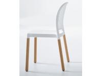 Silla tecnopolimero madera Monaco