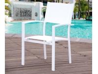 Silla aluminio blanco Ibiza