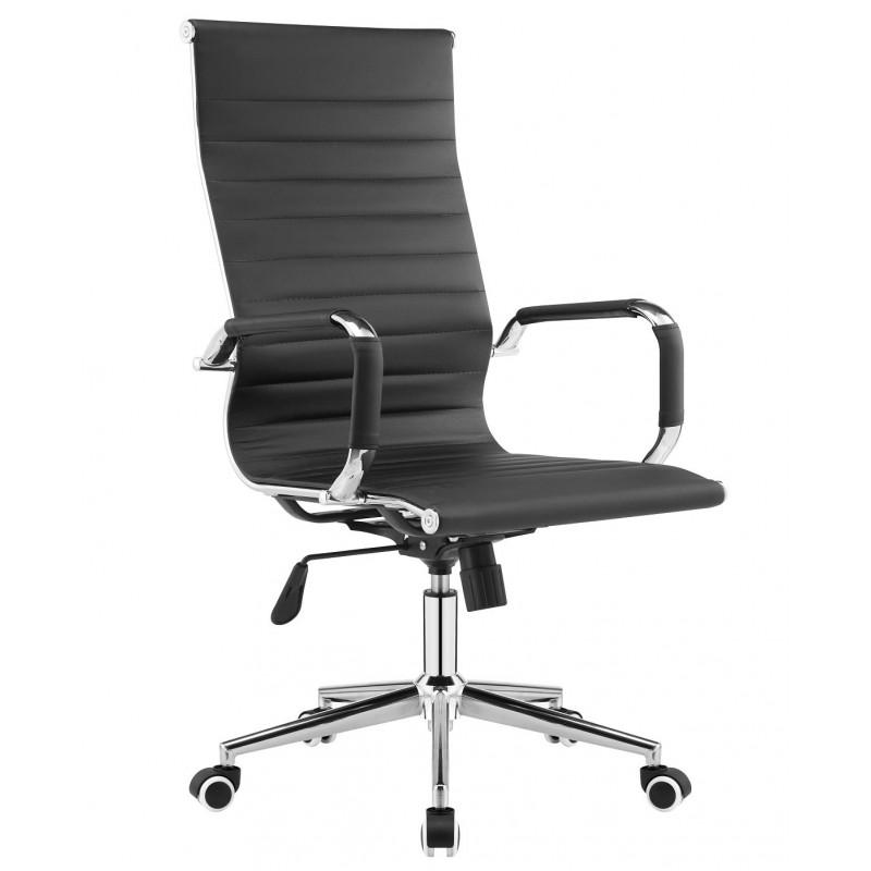 Sillón de oficina alto Eames similpiel negra