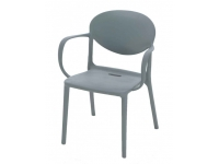 Sillon Patry polipropileno antracita
