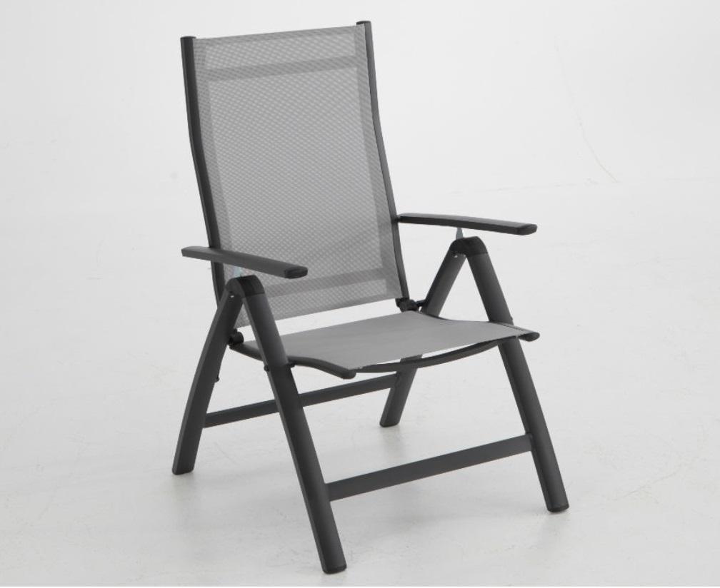 Sillon terraza reclinable posiciones Combo aluminio antracita