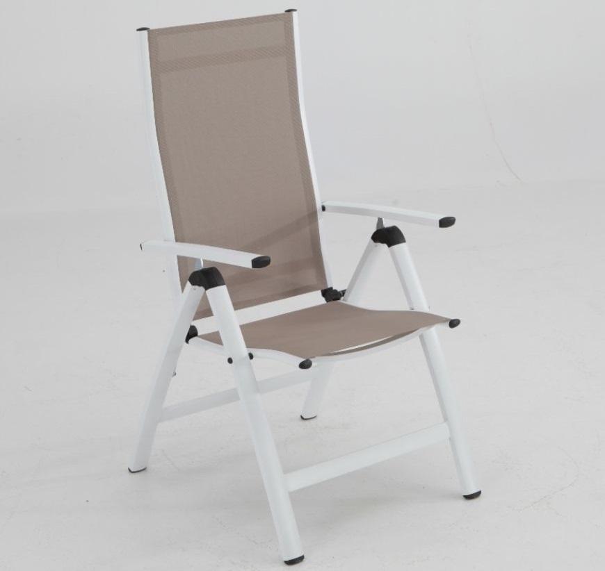 Sillon terraza reclinable posiciones Combo aluminio blanco