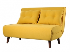 Sofá cama Valery 2 plazas liner amarillo