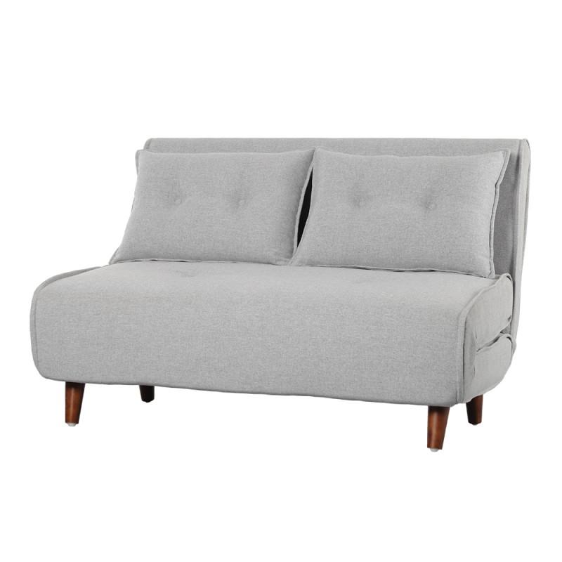 Sofá cama Valery 2 plazas liner gris claro