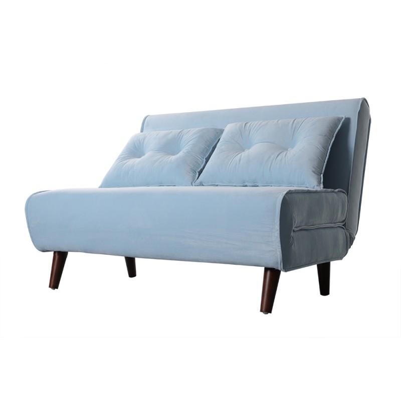Sofá cama Valery 2 plazas velvet azul claro