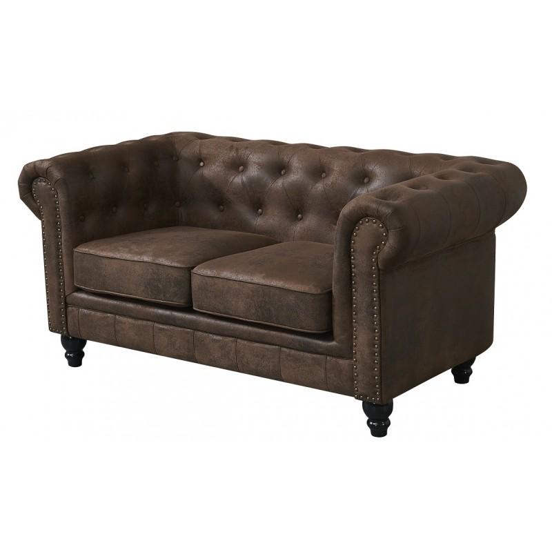 Sofa chester 2 plazas vintage con tachuelas