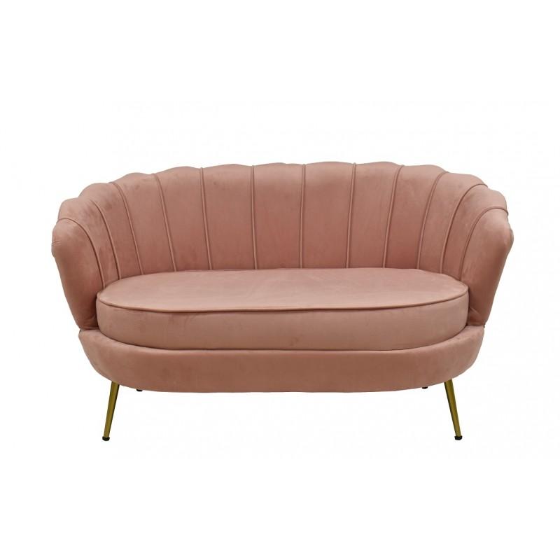 Sofa Marta tapizado velvet rosa 2 plazas
