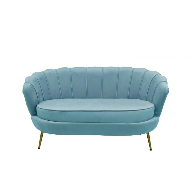Sofa Marta tapizado velvet turquesa 2 plazas