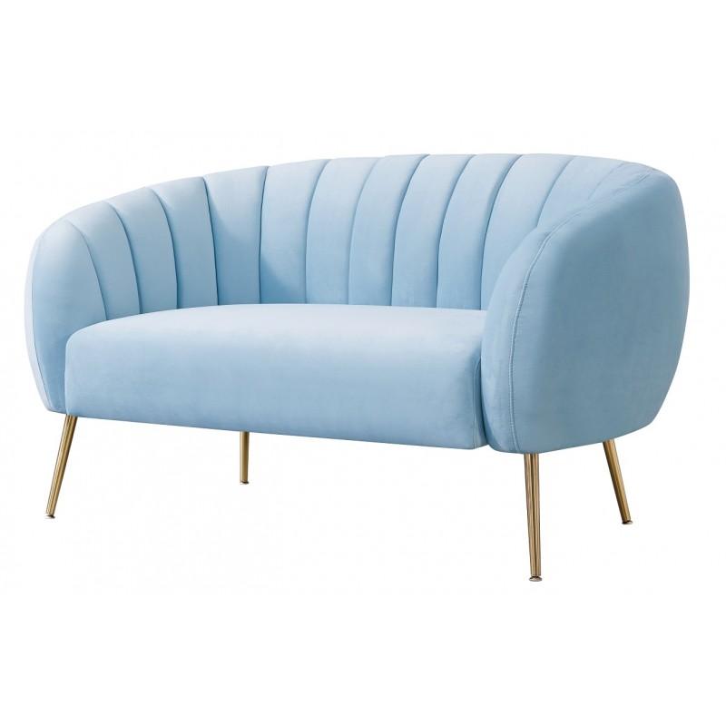 Sofá 2 plazas Zara velvet azul claro