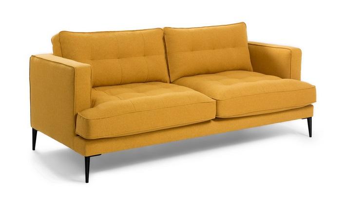Sofa 3 plazas florence tela mostaza