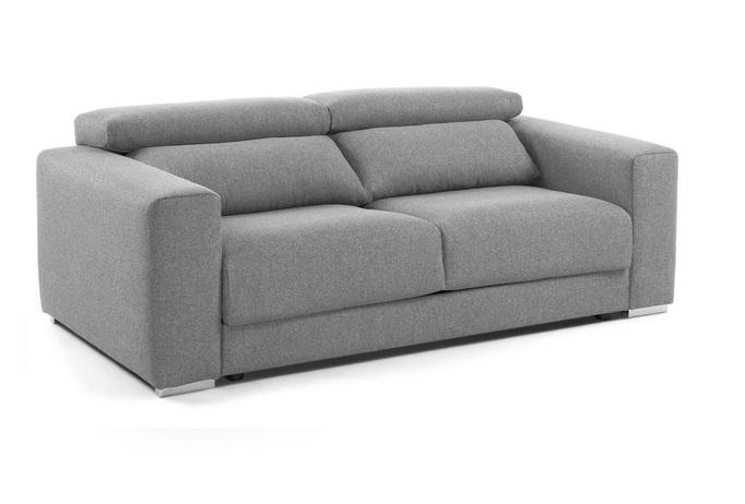 Sofa binari deslizante 3 plazas tela gris