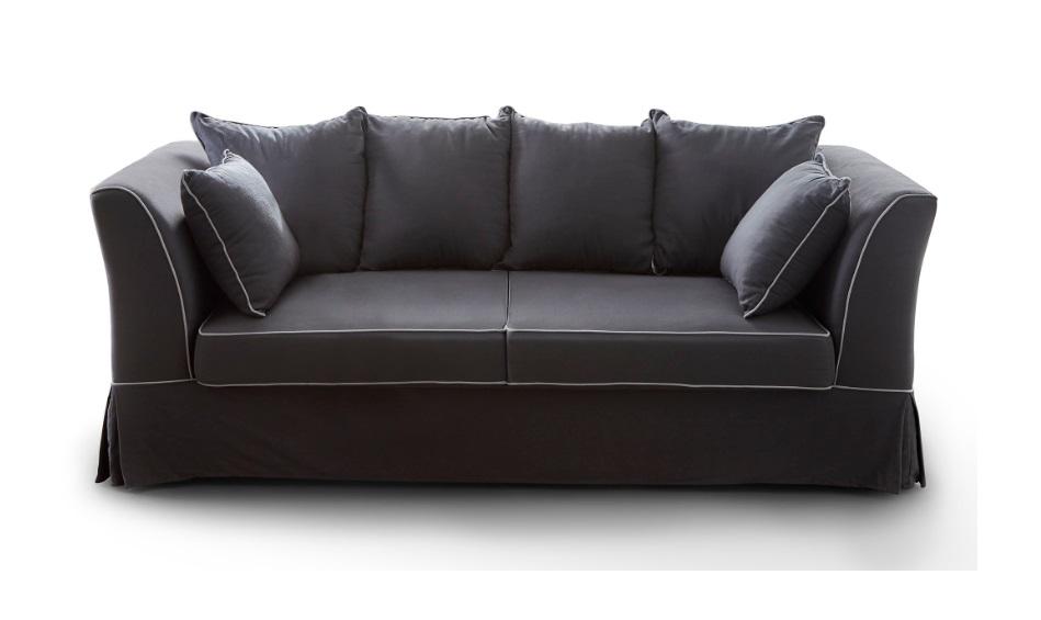 Sofa clasico goya tela gris 3 plazas