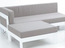 Sofa derecho dos plazas blanco Laos