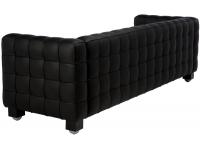 Sofa Kubus Negro 3 plazas