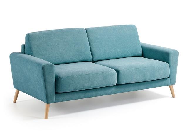 Sofa 3 plazas lido turquesa pies haya