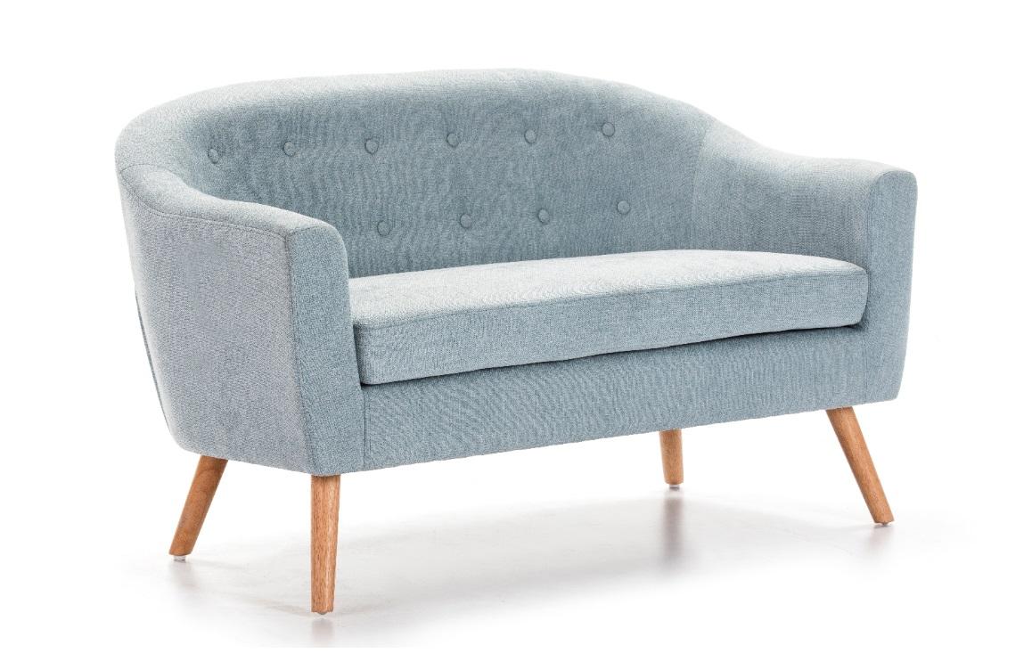 Sofa nordico botones tela azul SL-885