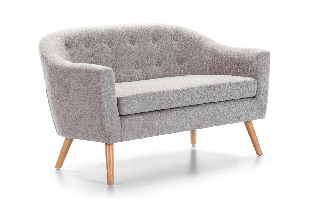 Sofa nordico botones tela gris SL-885