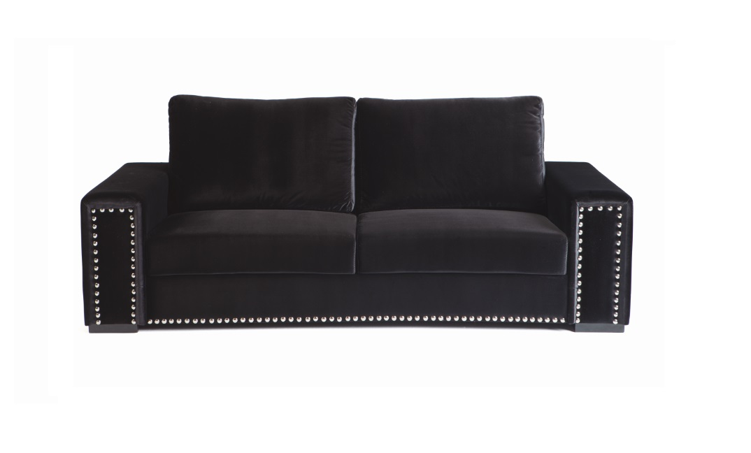 Sofa terciopelo Tachuelas 220 cm