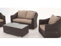 Set sofas rattan marron Alacan