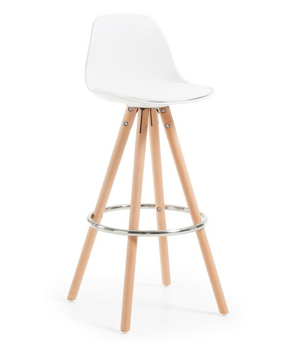 Taburete tower nordico blanco