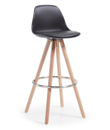Taburete tower nordico negro