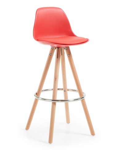 Taburete tower nordico rojo