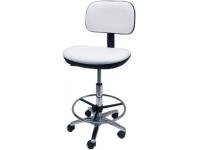 Taburete oficina ergonomico polipiel