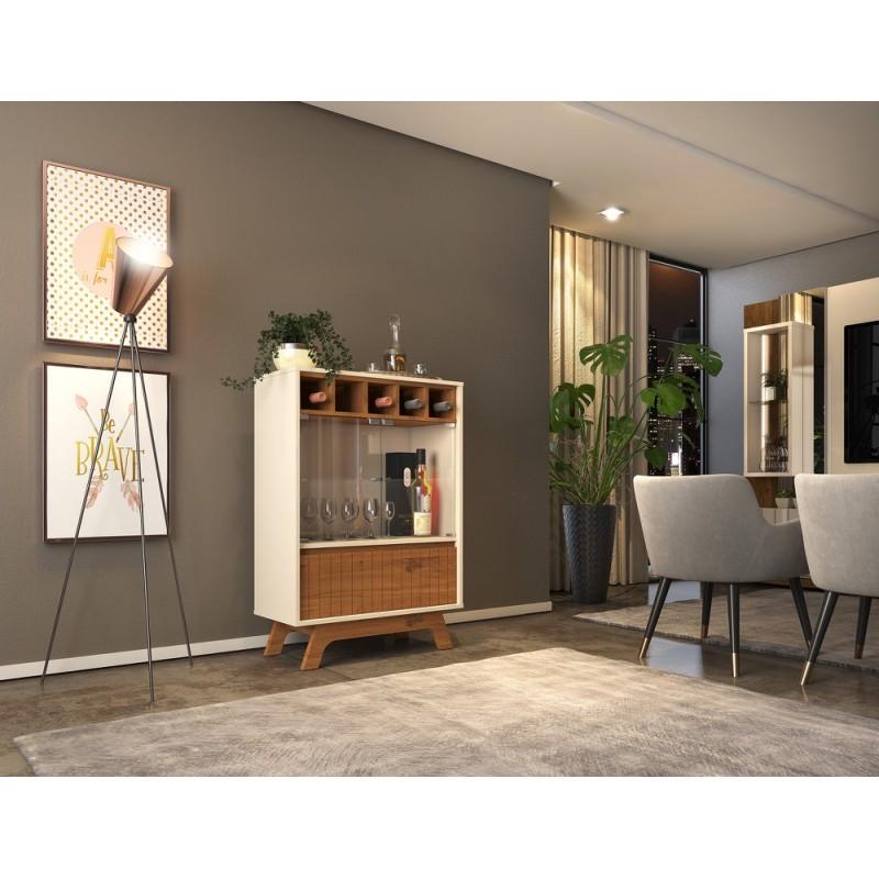 Vitrina baja Hampton madera roble 108x75 cm